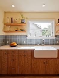 recycled glass backsplashes for kitchens recycled glass backsplash kitchen transitional with blue