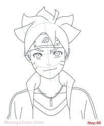how to draw boruto uzumaki from naruto step 09 projects to try