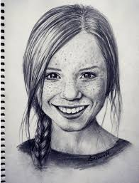 woman portrait art artist artistic artwork illustration