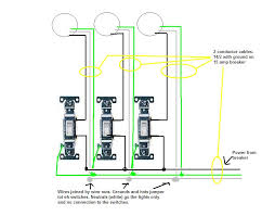 i want to put three lights each light controlled by a switch on