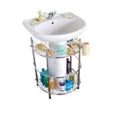 Bathroom Under Sink Storage Under Pedestal Sink Storage Solutions Best Sink Decoration