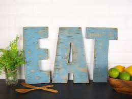 letter s wall decor rustic eat sign wooden eat letters kitchen sign farmhouse