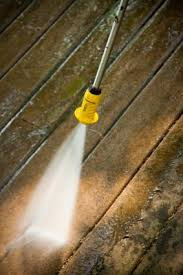what household products can i use to clean my wood deck