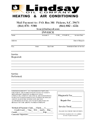 Air Conditioning Invoice Template by Hvac Invoice Template Rabitah