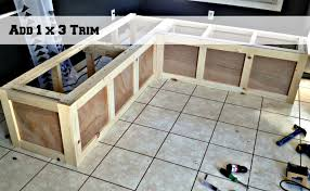 amazing kitchen corner bench plans pid 12795 amish furniture