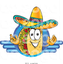 Best 15 Royalty Free Vector Logo Of Cartoon Taco Mascot Posited On