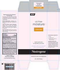 neutrogena oil free moisture clear skin lotion neutrogena