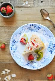 triple coconut u0027tres leches u0027 cake with honey vanilla summer fruit
