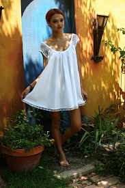 honeymoon nightgowns white cotton baby doll nightgown shabby chic swing lace