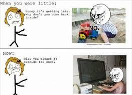 Meme Vs Meme - funny meme when you were little vs now