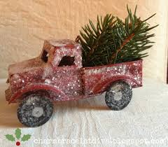 our hopeful home christmas decorating with mini pickup trucks and