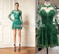 sale custom made charming emerald green prom dress a line