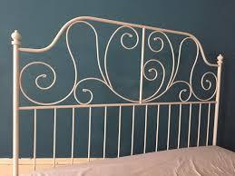 ikea leirvik king size white metal bed frame in walton