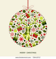 Green Reindeer Christmas Decorations by Christmas Ball Red Green Tree Decoration Stock Vector 726415717
