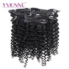 clip in human hair extensions yvonne malaysian curly human hair clip in hair extensions