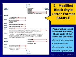 Semi Block Letter Format Business Letter Modified Block Style Letter Format Sample Letter Format 2017