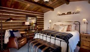 rustic master bedroom designs brown fabric hanging bed placed