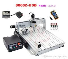 2017 best 4 axis usb port cnc router machine 8060 with 2 2kw