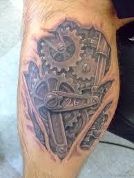 mechanic tattoo drawing 70 mind blowing leg tattoos