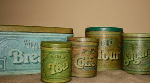 28 vintage metal kitchen canisters vintage galvanized metal