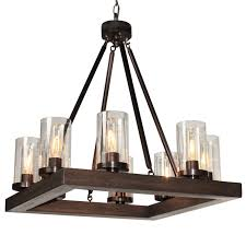 Square Chandelier Modern 8 Light Square Chandelier Shades Of Light