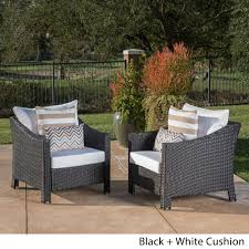 Black Patio Chair Decor Tips Fabulous Black Wicker Patio Chairs With White Wicker