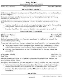 Professional Interests Resume Resume Examples 10 Best Good Effective Accurate Detailed