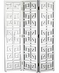 Room Divider Screen by Amazing Deal On Dahlia 3 Panel Mirrored Room Divider Screen