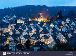 Tudor Style Houses by Historical Old Town Tudor Style Houses In Freudenberg Germany