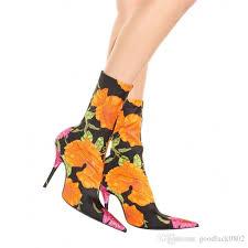 s boots designer designer floral prints s high heels boots fashion
