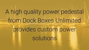 Marine Power Pedestals Power Pedestal Powering Your Dock With Power Pedestals Youtube
