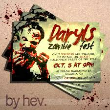 the walking dead zombie zombies halloween party invitation 15 00