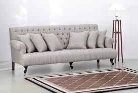canape de style canapé de style chesterfield en tissu 2 places gris