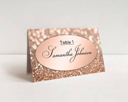 Table Name Cards by Elegant Wedding Place Cards Template Rose Gold Escort Cards