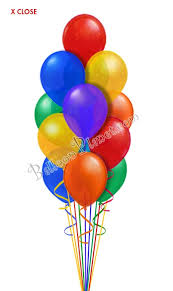 balloon delivery classic rainbow just for balloon bouquet 16 balloons