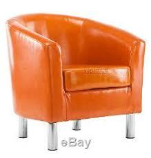 Tub Armchair 2x Shiny Leather Tub Chair Armchair Dining Living Room Office