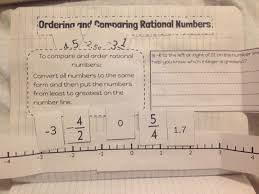 Compare Numbers Worksheet Teaching In An Organized Mess Interactive Notebook Pages Rational