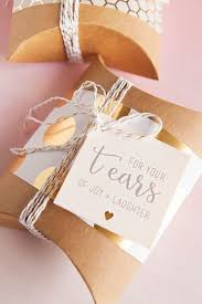 wedding gift tags diy idea wedding handkerchief happy tears gift tags happy