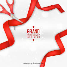 grand opening ribbon grand opening background with ribbons vector free