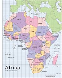 Map With Labels Label Africa Map Africa Map