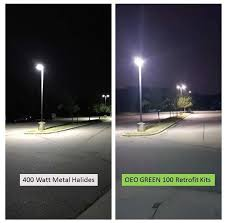 led parking lot lights vs metal halide led lighting and led bulbs replacement oeo energy solutions