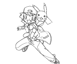 pokemon color pages pikachu how to draw ash ketchum and pikachu on pokemon coloring page how