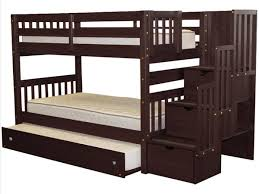Bunk Bed Pictures Bunk Beds Stairway Cappuccino Trundle 796
