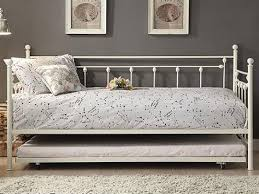 bedroom appealing lisbon metal day bed with trundle in white