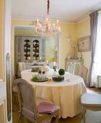 french country blue and yellow dining room french country