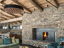 steel fireplace mantel trusses raised hearth stone beams floating