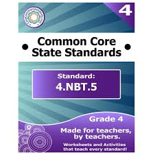 4 nbt 5 fourth grade common core bundle worksheets activities