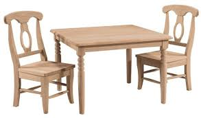 unfinished childrens table and chairs children s table chair sets unfinishedfurnitureexpo