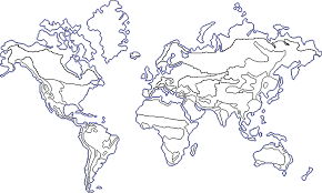 Blank Color World Map by Env 101 Works