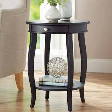 Small Black Accent Table Living Room Wood Accent Table Tables Living Room Drum Target